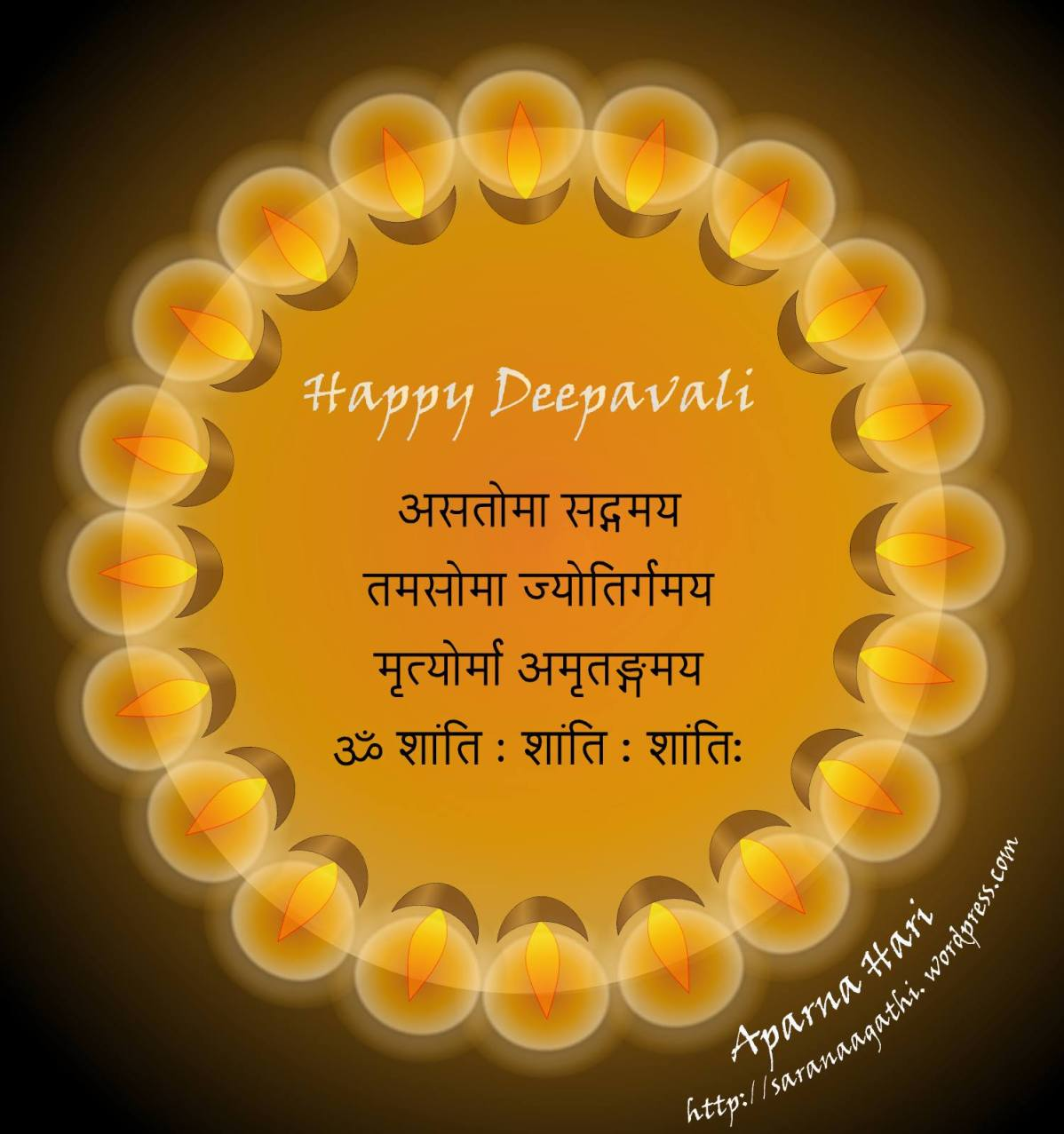 Deepavali Greetings from Saranaagathi