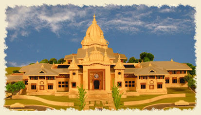 Model of Universal Temple of Sri Ramakrishna in Homer Glen, IL
